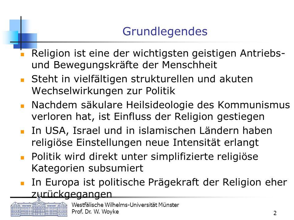 Grundlegendes Religion ist eine der wichtigsten geistigen Antriebs- und Bewegungskräfte der Menschheit.