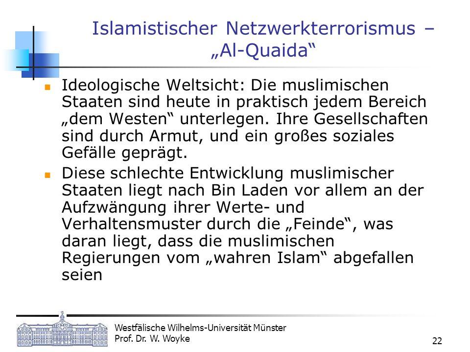 """Islamistischer Netzwerkterrorismus – """"Al-Quaida"""