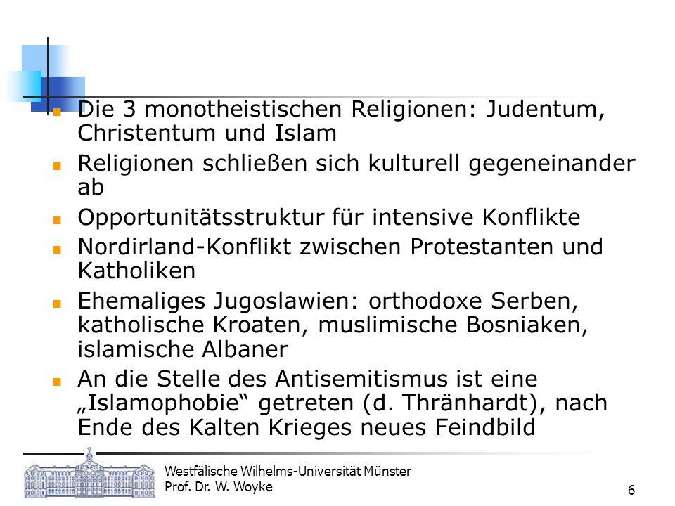 Die 3 monotheistischen Religionen: Judentum, Christentum und Islam