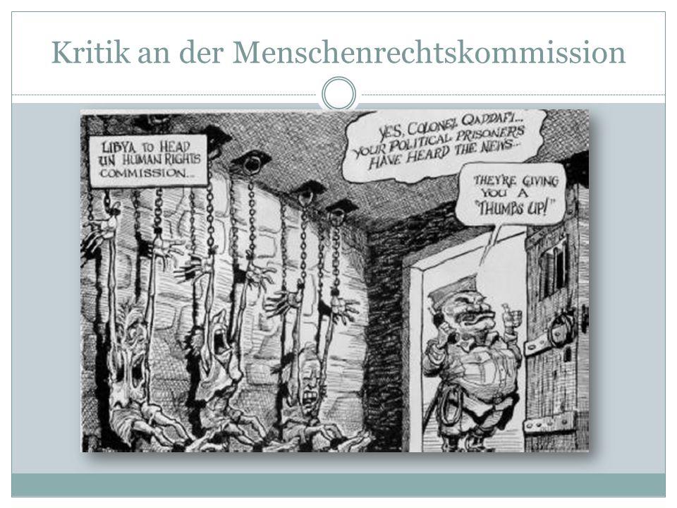 Kritik an der Menschenrechtskommission