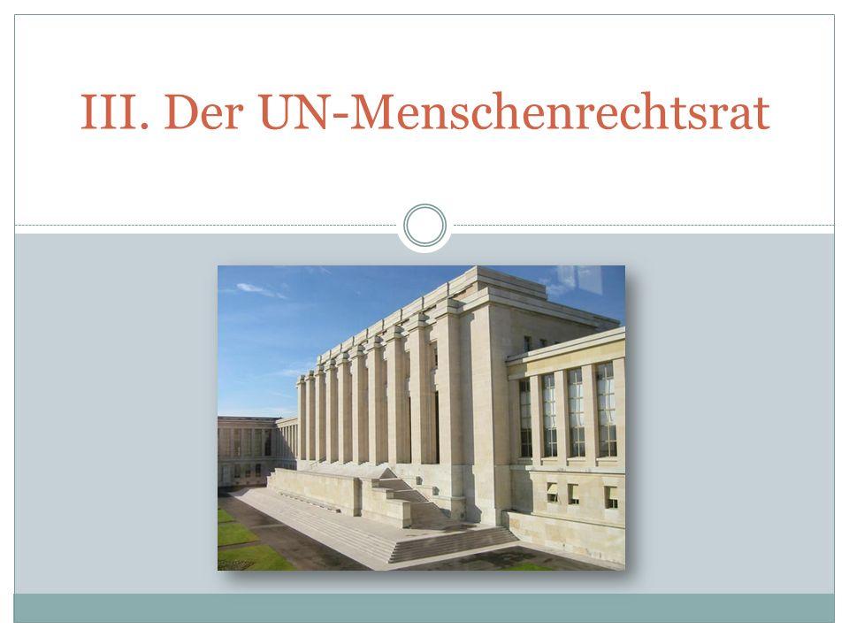III. Der UN-Menschenrechtsrat