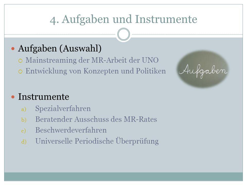 4. Aufgaben und Instrumente