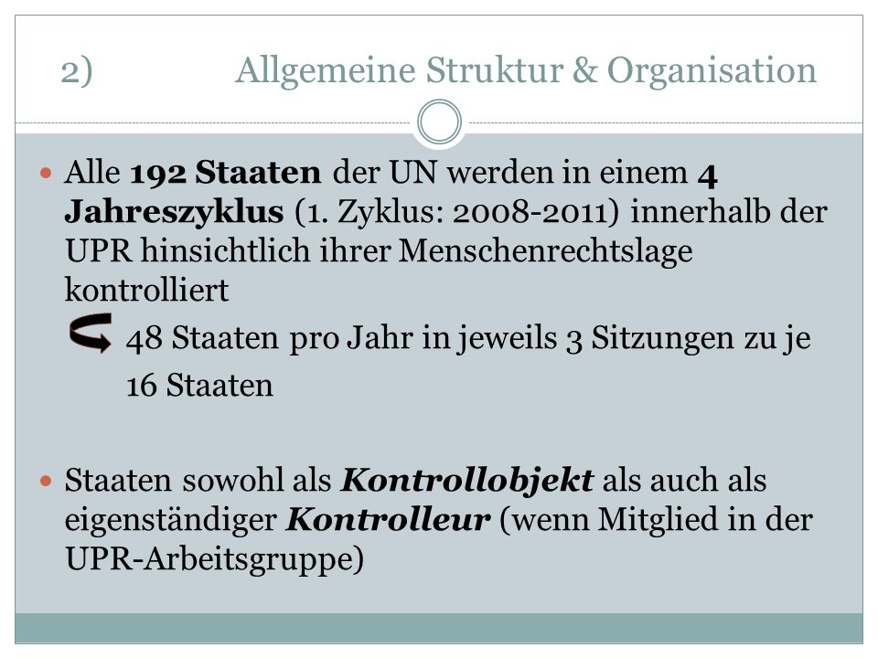 2) Allgemeine Struktur & Organisation