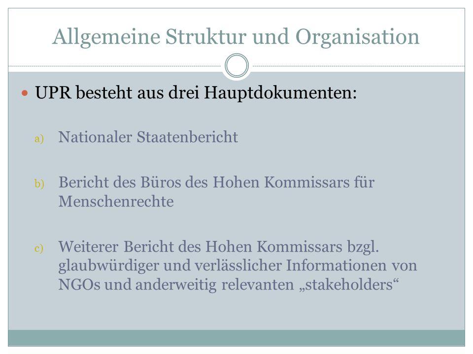 Allgemeine Struktur und Organisation