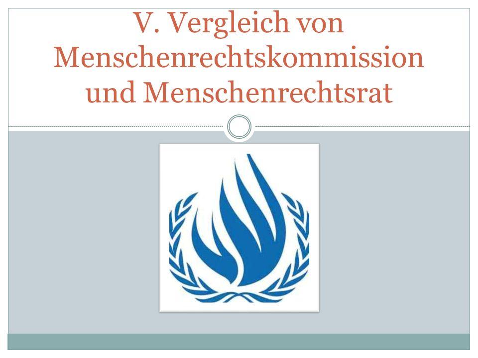 V. Vergleich von Menschenrechtskommission und Menschenrechtsrat