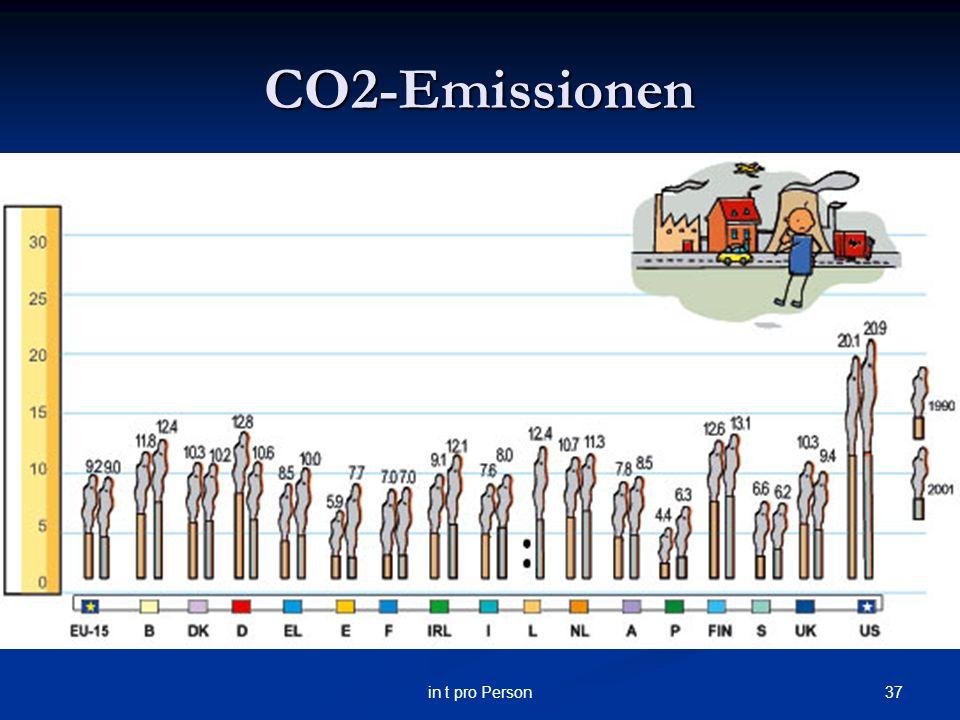CO2-Emissionen in t pro Person