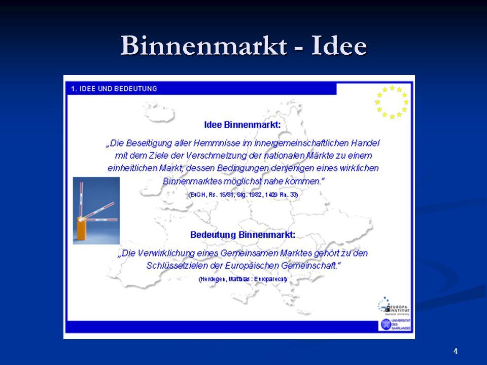 Binnenmarkt - Idee