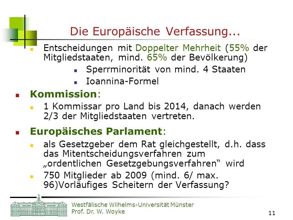 Die Europäische Verfassung...