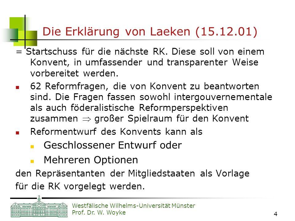 Die Erklärung von Laeken (15.12.01)