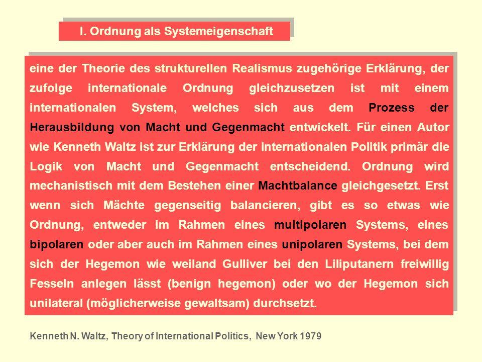 I. Ordnung als Systemeigenschaft