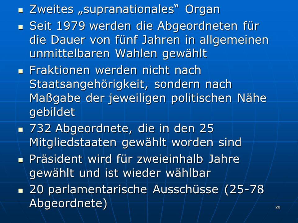 """Zweites """"supranationales Organ"""
