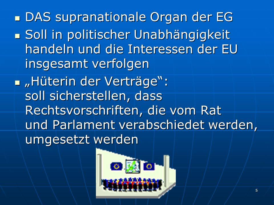 DAS supranationale Organ der EG