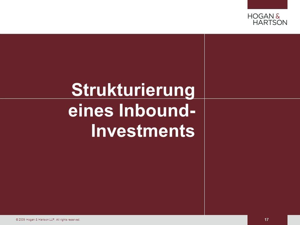 Strukturierung eines Inbound-Investments