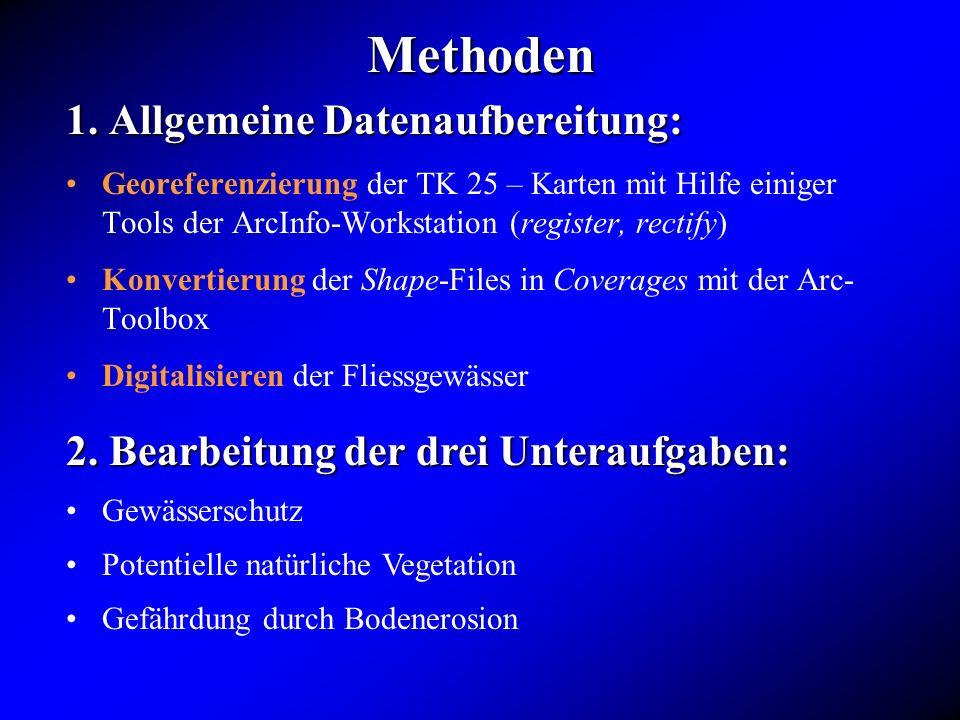 Methoden 1. Allgemeine Datenaufbereitung: