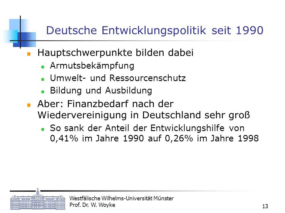 Deutsche Entwicklungspolitik seit 1990