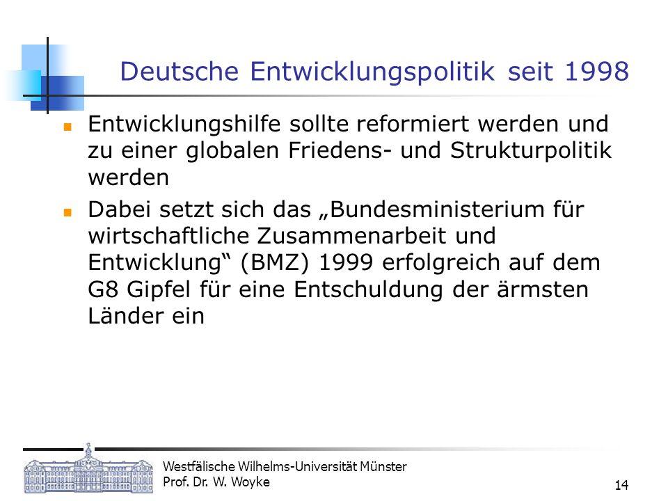 Deutsche Entwicklungspolitik seit 1998