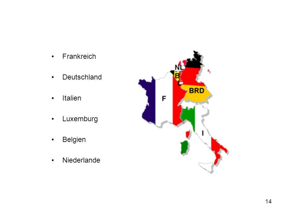 Frankreich Deutschland Italien Luxemburg Belgien Niederlande