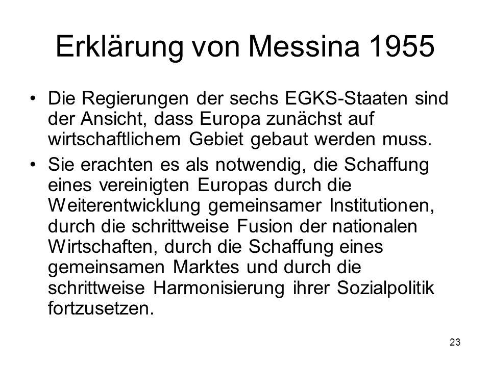Erklärung von Messina 1955
