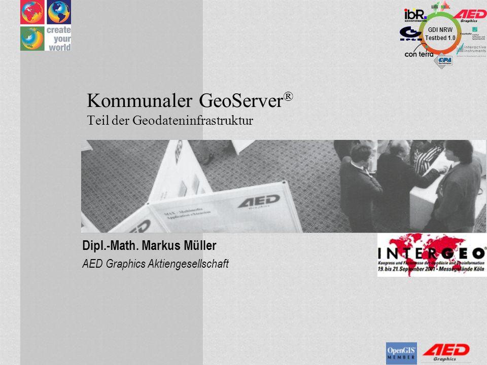 Kommunaler GeoServer® Teil der Geodateninfrastruktur