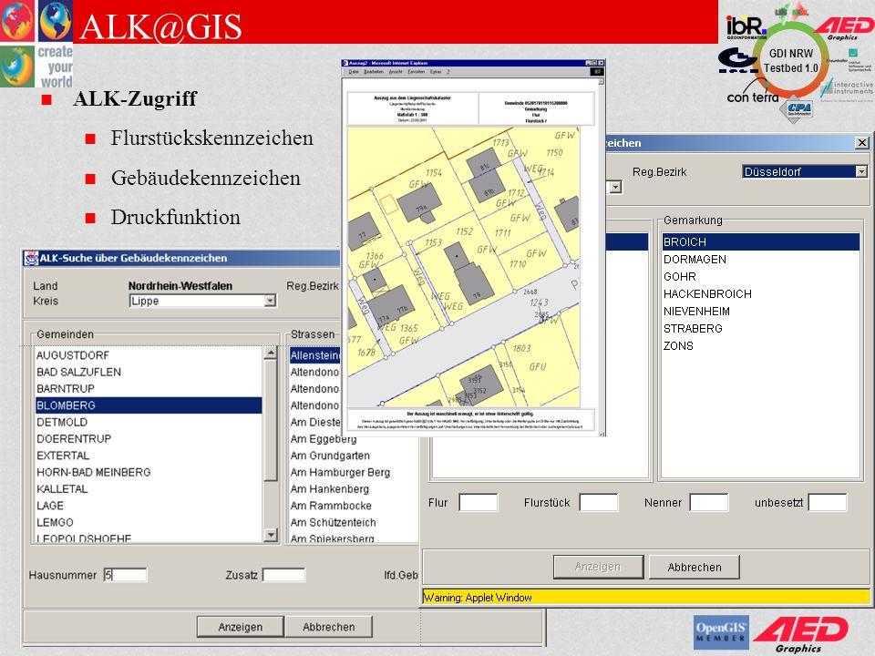 ALK@GIS ALK-Zugriff Flurstückskennzeichen Gebäudekennzeichen