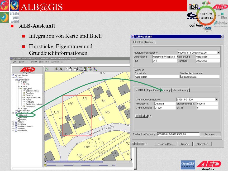 ALB@GIS ALB-Auskunft Integration von Karte und Buch