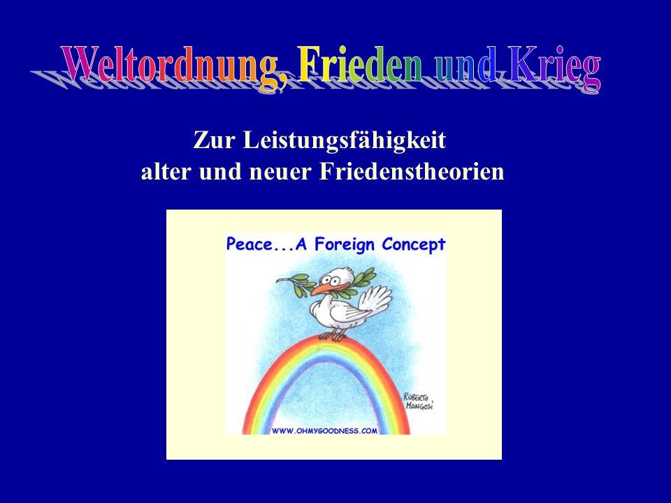 Weltordnung, Frieden und Krieg