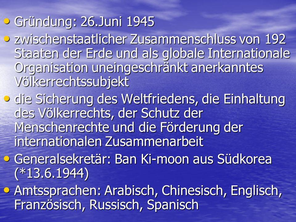 Gründung: 26.Juni 1945