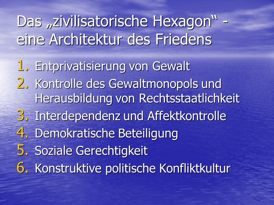 """Das """"zivilisatorische Hexagon - eine Architektur des Friedens"""