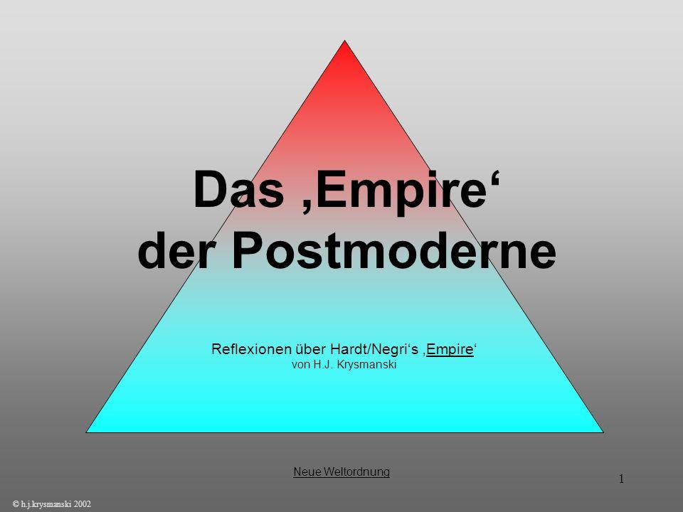Das 'Empire' der Postmoderne