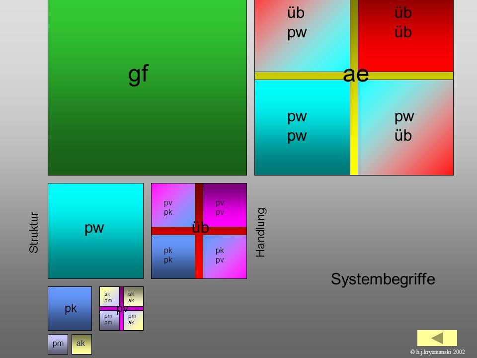 gf ae üb pw üb üb pw pw pw üb pw üb Systembegriffe Struktur Handlung