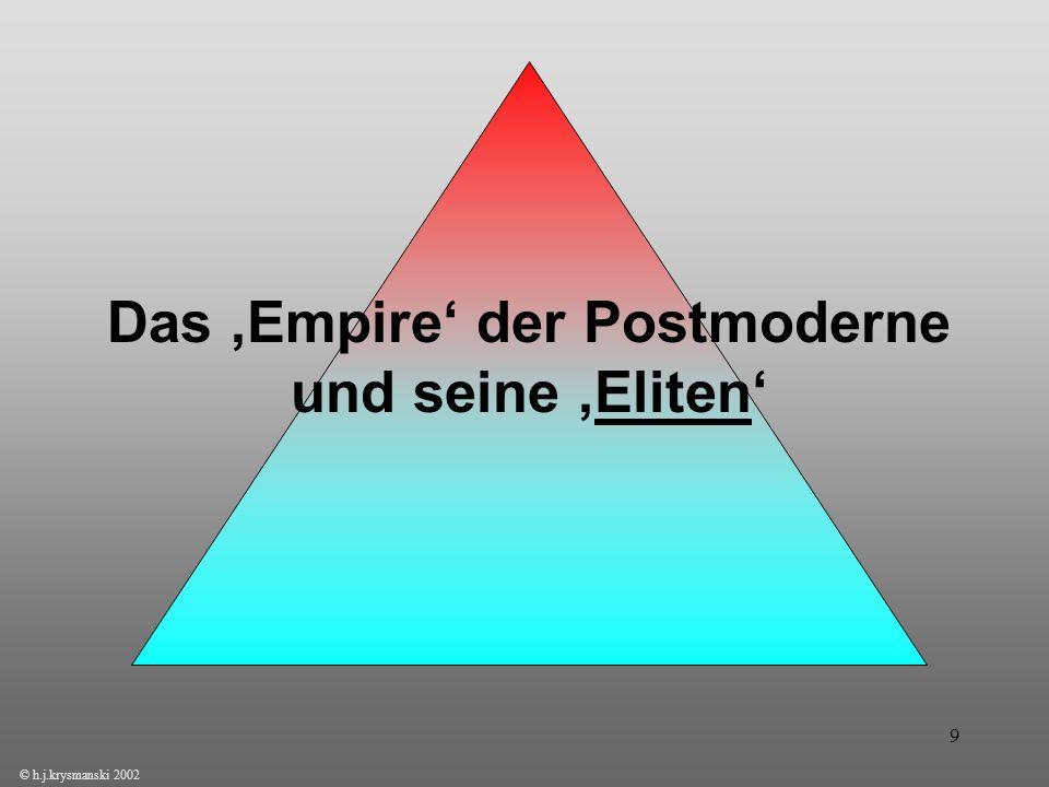Das 'Empire' der Postmoderne und seine 'Eliten'