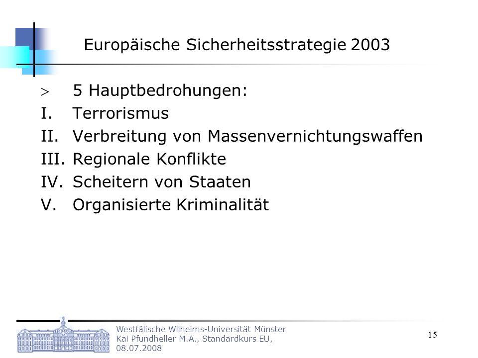 Europäische Sicherheitsstrategie 2003