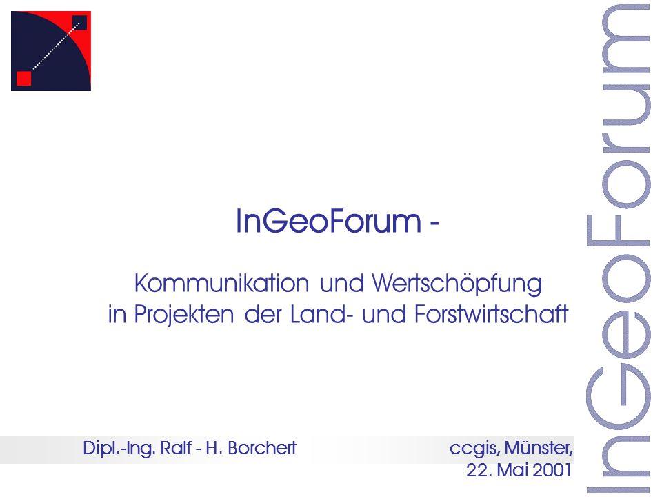InGeoForum - Kommunikation und Wertschöpfung
