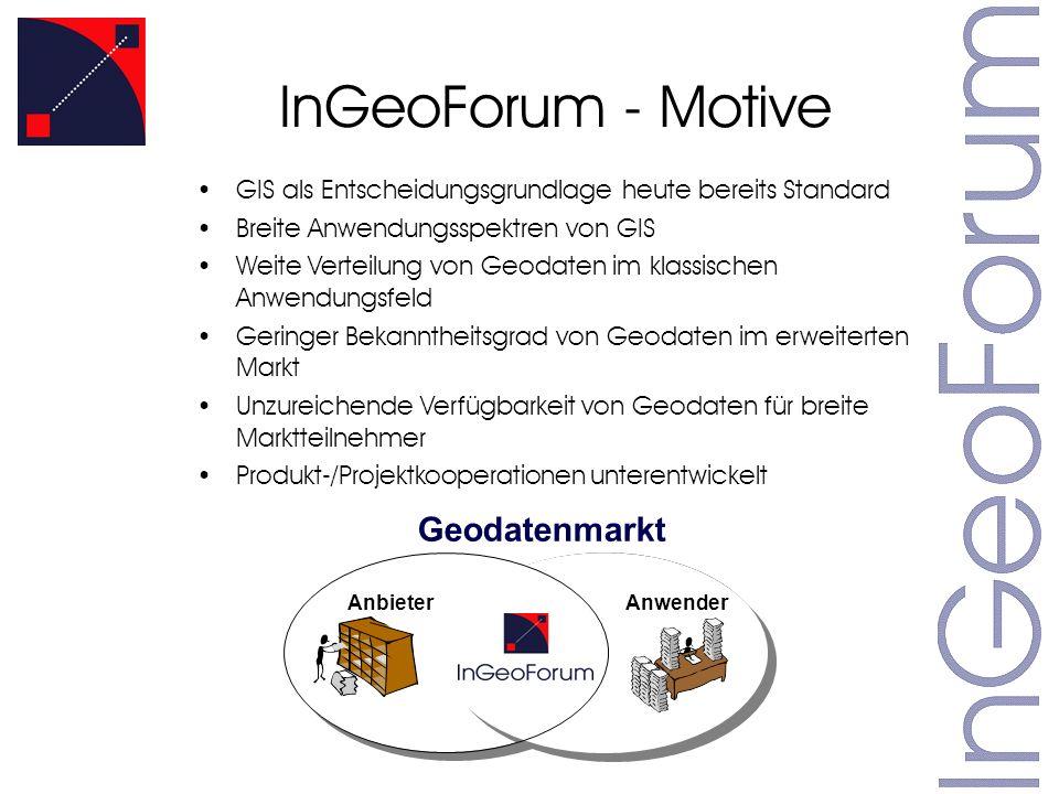InGeoForum - Motive Geodatenmarkt