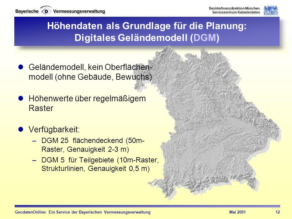 Höhendaten als Grundlage für die Planung: Digitales Geländemodell (DGM)