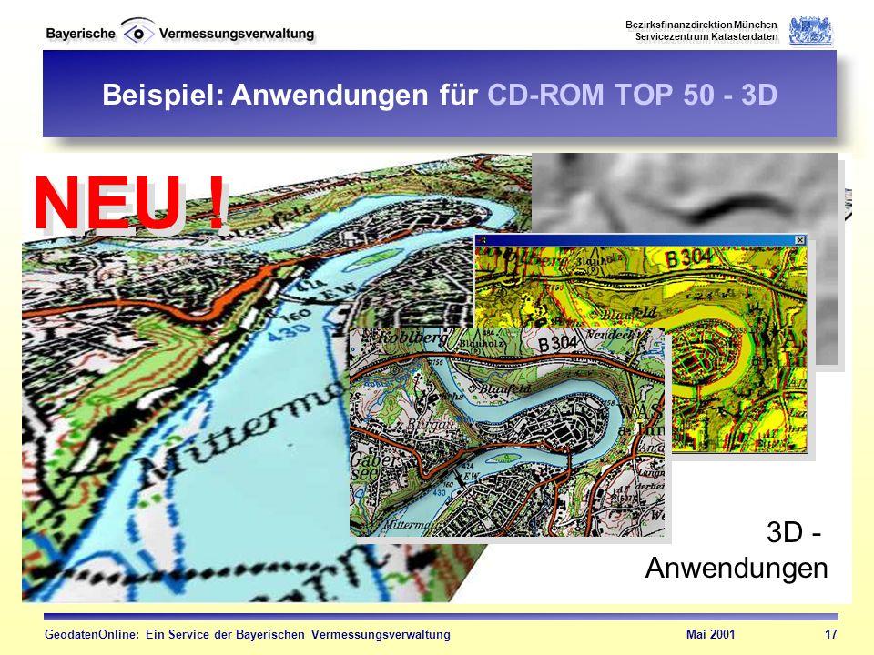 Beispiel: Anwendungen für CD-ROM TOP 50 - 3D