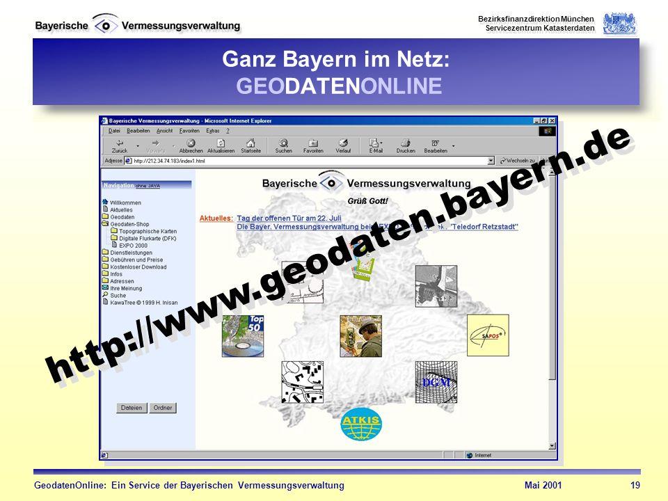 Ganz Bayern im Netz: GEODATENONLINE