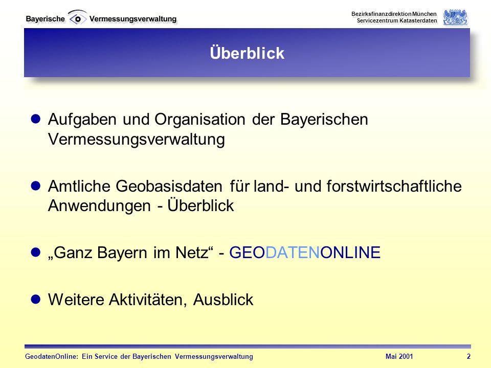 Aufgaben und Organisation der Bayerischen Vermessungsverwaltung