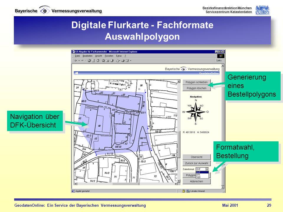 Digitale Flurkarte - Fachformate Auswahlpolygon
