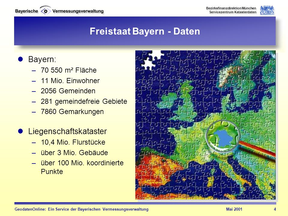 Freistaat Bayern - Daten