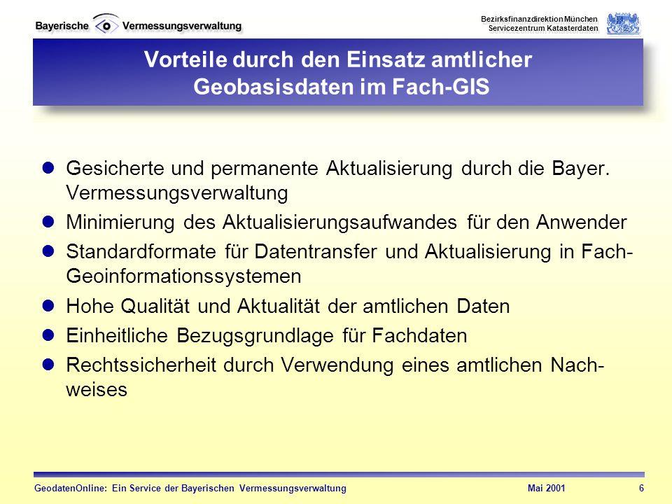 Vorteile durch den Einsatz amtlicher Geobasisdaten im Fach-GIS