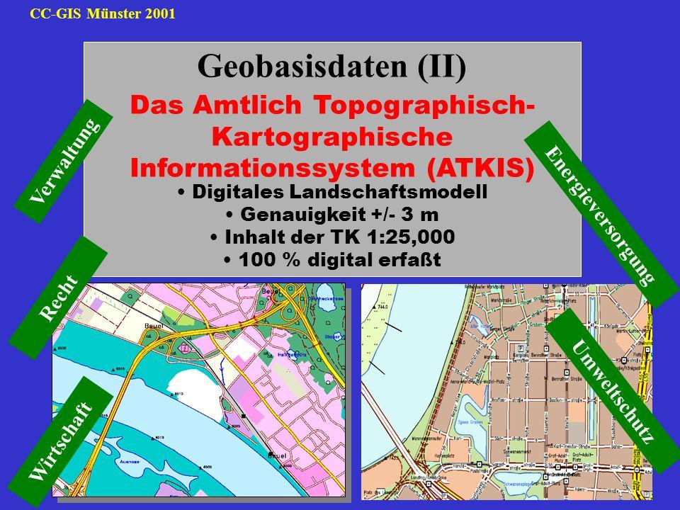 Geobasisdaten (II) Das Amtlich Topographisch- Kartographische
