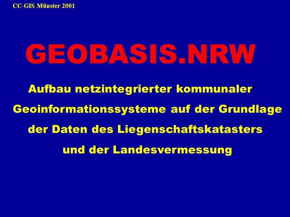 GEOBASIS.NRW Aufbau netzintegrierter kommunaler