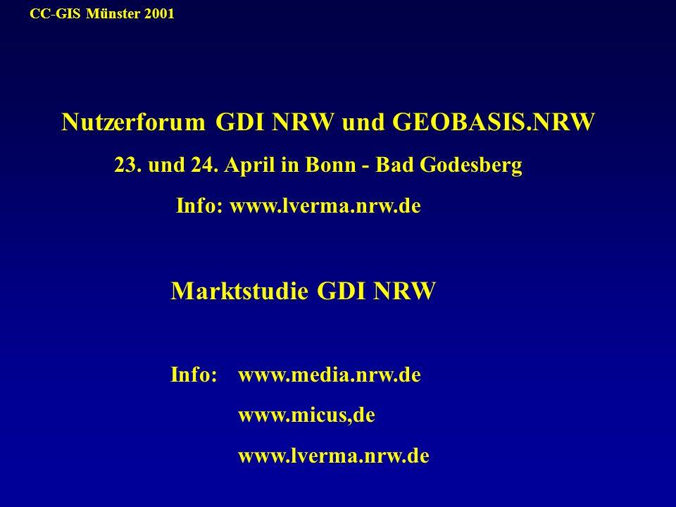 Nutzerforum GDI NRW und GEOBASIS.NRW