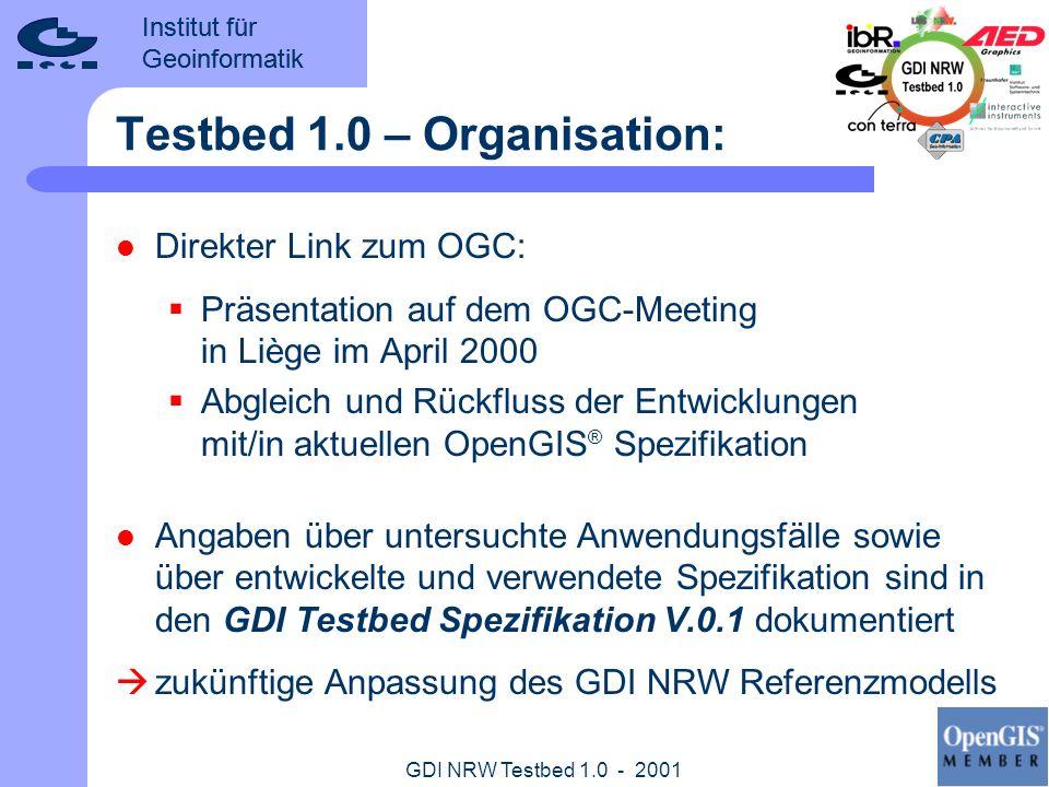 Testbed 1.0 – Organisation: