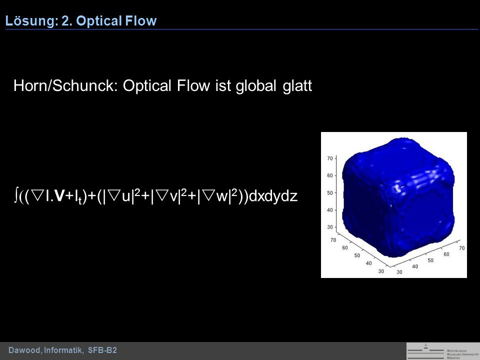 Horn/Schunck: Optical Flow ist global glatt