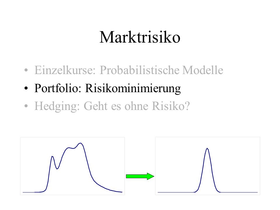 Marktrisiko Einzelkurse: Probabilistische Modelle