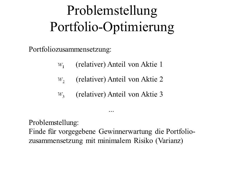 Problemstellung Portfolio-Optimierung