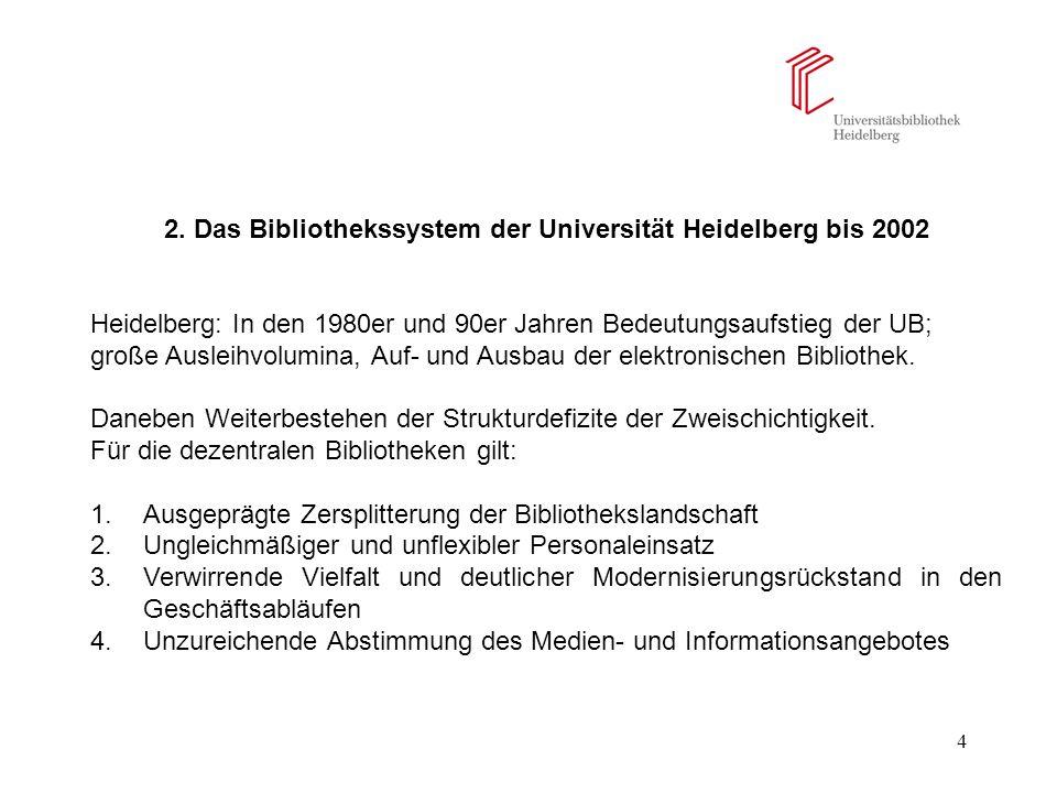 2. Das Bibliothekssystem der Universität Heidelberg bis 2002