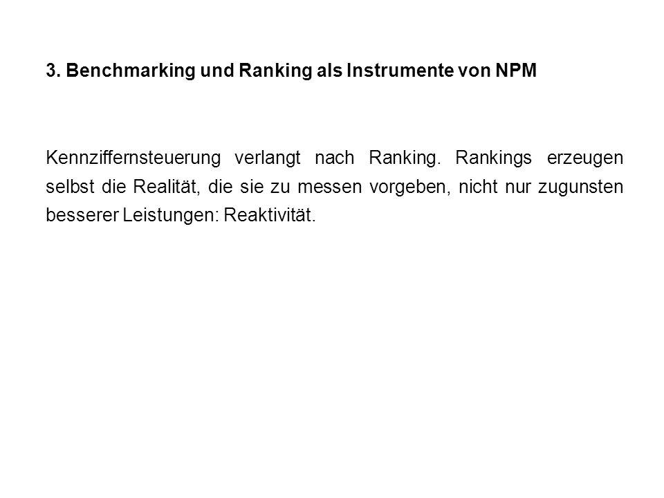 3. Benchmarking und Ranking als Instrumente von NPM